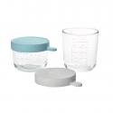 玻璃食物儲存器(2件裝)