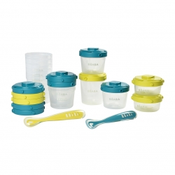 1st meal set - Set of portions clip + 1st age silicone spoon